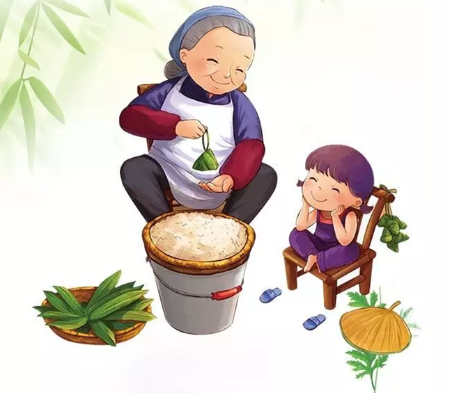 粽叶外漏出的糯米红枣,像一个个因吃太饱被撑破肚皮衣服的娃娃,成为全图片